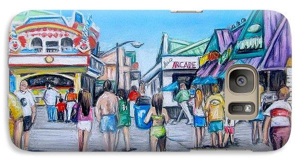 Galaxy Case featuring the painting Point Pleasant Beach Boardwalk by Melinda Saminski