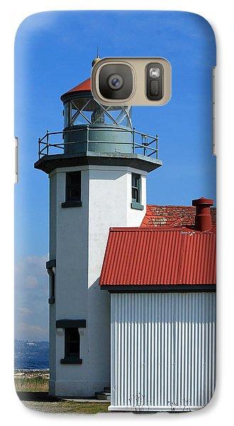 Galaxy Case featuring the photograph Point Robinson Light House by E Faithe Lester
