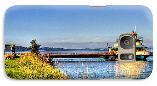 Galaxy Case featuring the photograph Point Ruston Ship by Rob Green