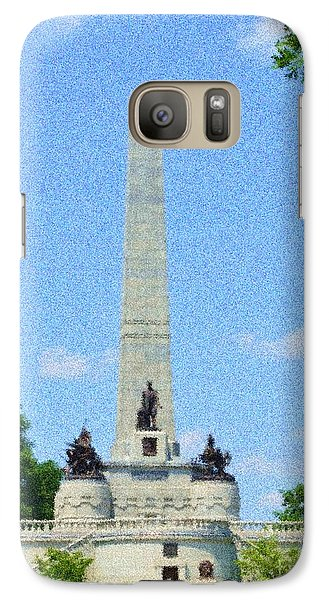 Galaxy Case featuring the digital art Pointelisticlincoln's Tomb  by Luther Fine Art