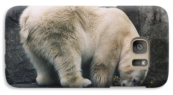 Galaxy Case featuring the photograph Polar Bear At Zoo by Myrna Walsh