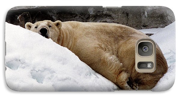 Galaxy Case featuring the photograph Polar Bear Looking by Tom Brickhouse