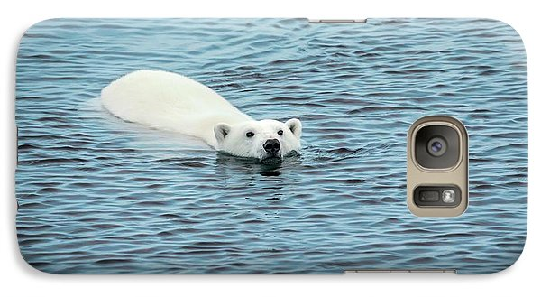Polar Bear Swimming Galaxy Case by Peter J. Raymond