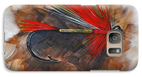 Galaxy Case featuring the painting Polar Shrimp Fishing Fly by Cynthia Lagoudakis