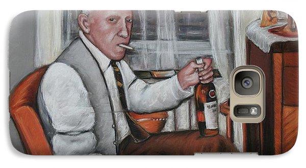 Galaxy Case featuring the painting Polish Grandfather by Melinda Saminski