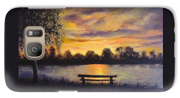 Galaxy Case featuring the painting Polish Sunset by Bozena Zajaczkowska