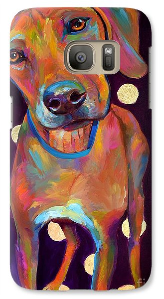 Galaxy Case featuring the painting Polka Pooch by Robert Phelps