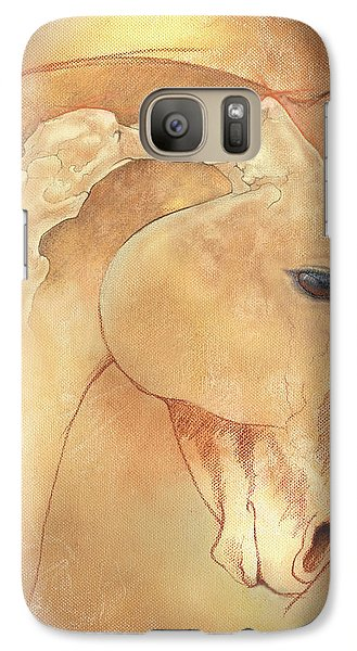Horse Galaxy S7 Case - Poll Meet Atlas Axis by Catherine Twomey