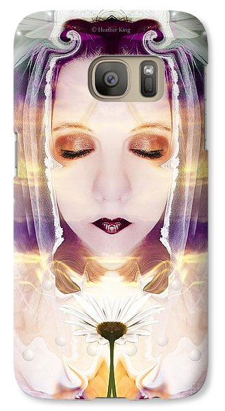 Galaxy Case featuring the photograph Pollen From The Light Flower by Heather King
