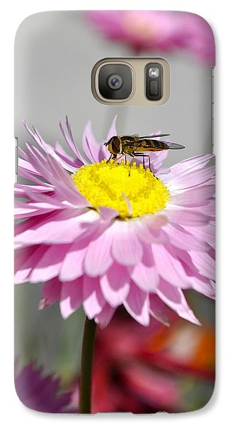 Galaxy Case featuring the photograph Pollination by Cathy Mahnke