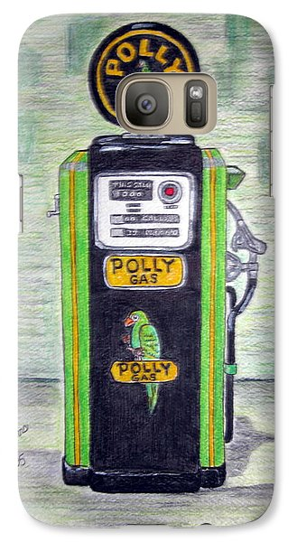 Galaxy Case featuring the painting Polly Gas Pump by Kathy Marrs Chandler
