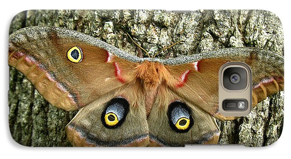 Galaxy Case featuring the photograph Polyphemus Moth by William Tanneberger