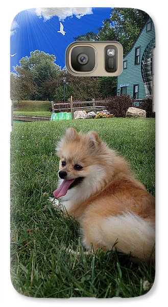 Galaxy Case featuring the photograph Pomeranian by Michael Rucker