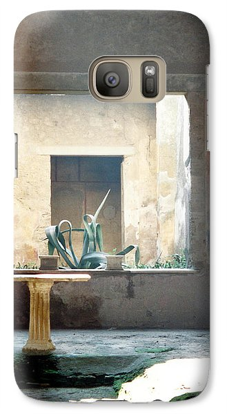 Galaxy Case featuring the photograph Pompeii Courtyard by Marna Edwards Flavell