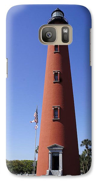 Galaxy Case featuring the photograph Ponce Inlet Lighthouse by Laurie Perry