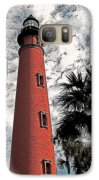 Galaxy Case featuring the photograph Ponce Lighthouse Artistic Brush by G L Sarti