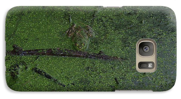 Galaxy Case featuring the photograph Pond Eyes by Robert Nickologianis