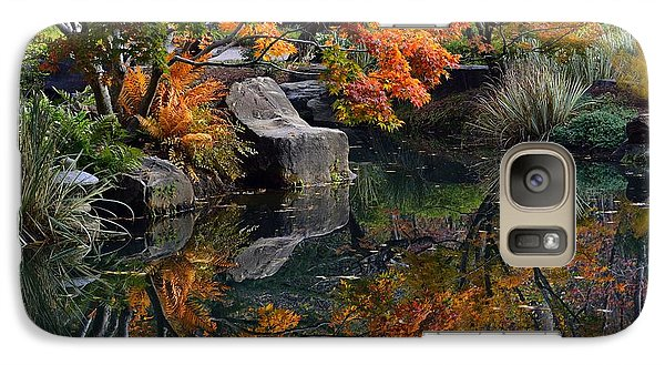 Galaxy Case featuring the photograph Pond In Autumn by Lisa L Silva