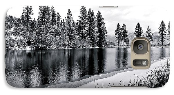 Galaxy Case featuring the photograph Pond In Snow by Julia Hassett