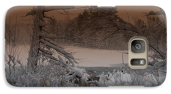 Galaxy Case featuring the photograph Pond Scape by Mim White