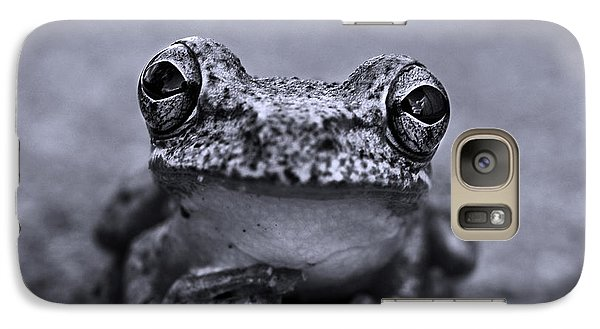 Pondering Frog Bw Galaxy S7 Case