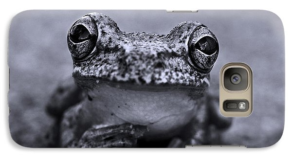 Pondering Frog Bw Galaxy Case by Laura Fasulo