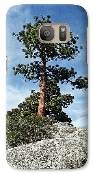 Galaxy Case featuring the photograph Ponderosa Pine And Granite Boulders by Jeff Goulden