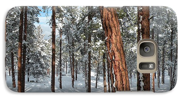 Galaxy Case featuring the painting Ponderosa Winter by Jennifer Lake