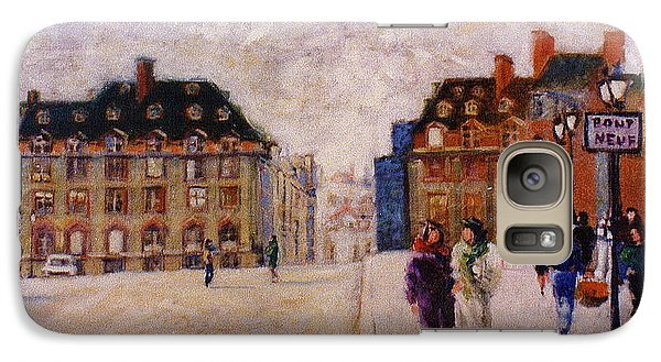 Galaxy Case featuring the painting Pont Neuf by Walter Casaravilla