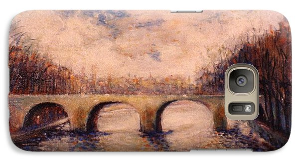 Galaxy Case featuring the painting Pont Sur La Seine by Walter Casaravilla