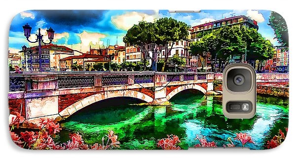 Galaxy Case featuring the photograph Ponte San Martino Treviso Italy by Jack Torcello
