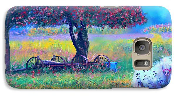 Galaxy Case featuring the digital art Pony In Pasture by Kari Nanstad