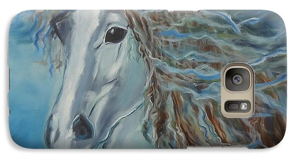 Galaxy Case featuring the painting Pony by Jenny Lee