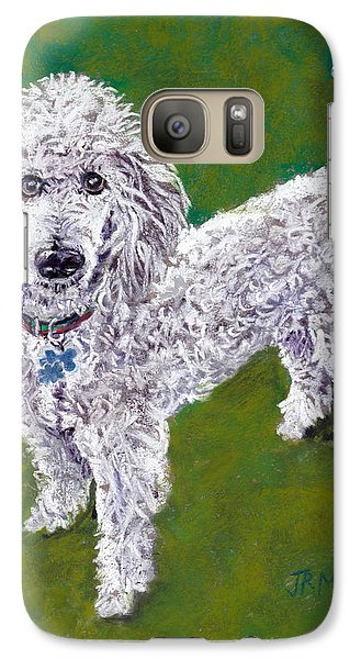 Galaxy Case featuring the pastel Poodle Pal by Julie Maas