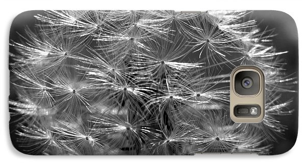 Galaxy Case featuring the photograph Poof - Black And White by Joseph Skompski
