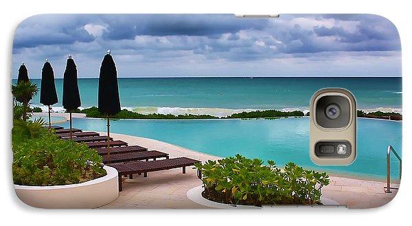 Galaxy Case featuring the photograph Pool At Rosewood Mayakoba by Teresa Zieba