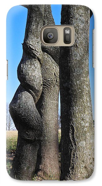Galaxy Case featuring the photograph Poor Twisted Tree by Nick Kirby