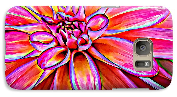 Pop Art Dahlia Galaxy S7 Case