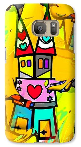 Galaxy Case featuring the digital art Pop-art Dom By Nico Bielow by Nico Bielow