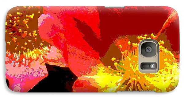 Galaxy Case featuring the photograph Pop Goes The Poppy by Sally Simon
