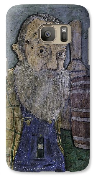 Galaxy Case featuring the painting Popcorn Sutton - Heaven's Bootlegger by Eric Cunningham