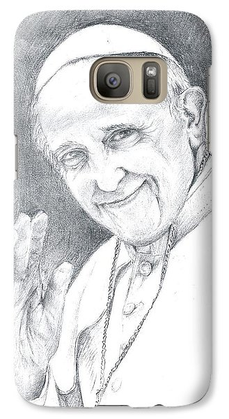 Galaxy Case featuring the drawing Pope Francis by Rose Wang