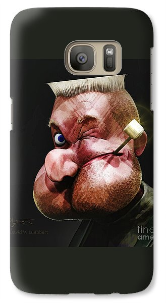 Galaxy Case featuring the painting Popeye Portrait by Dave Luebbert