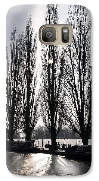 Galaxy Case featuring the photograph Poplars In Winter by David Isaacson