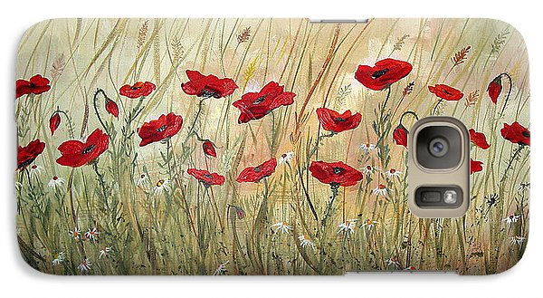 Galaxy Case featuring the painting Poppies And Wild Flowers by Dorothy Maier