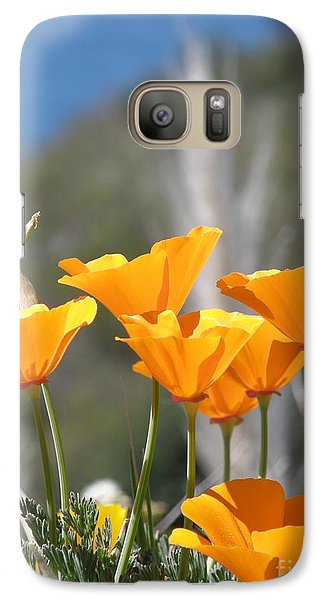Galaxy Case featuring the photograph Poppies by Bev Conover