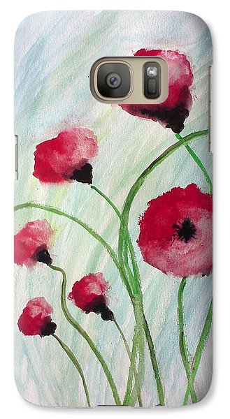 Galaxy Case featuring the painting Poppies by Carol Duarte