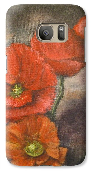 Galaxy Case featuring the painting Poppies by Dan Wagner