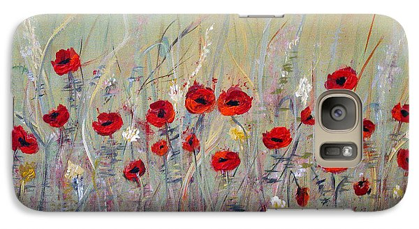 Galaxy Case featuring the painting Poppies by Dorothy Maier