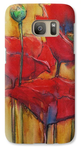 Galaxy Case featuring the painting Poppies IIi by Jani Freimann